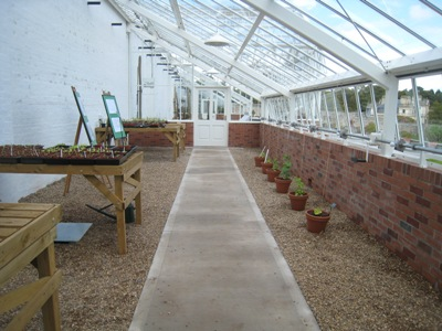 New expensive glasshouse at Dyffryn Garden  2012 copyright Anne Wareham