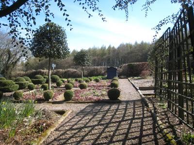 Charles' Garden, Veddw in spring copyright Anne Wareham