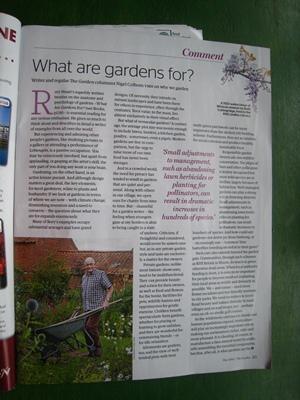 Nigel Colborn in The Garden copyright Anne Wareham, Veddw