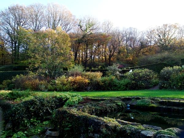 Veddw view across lawn, Autumn, copyright Anne Wareham