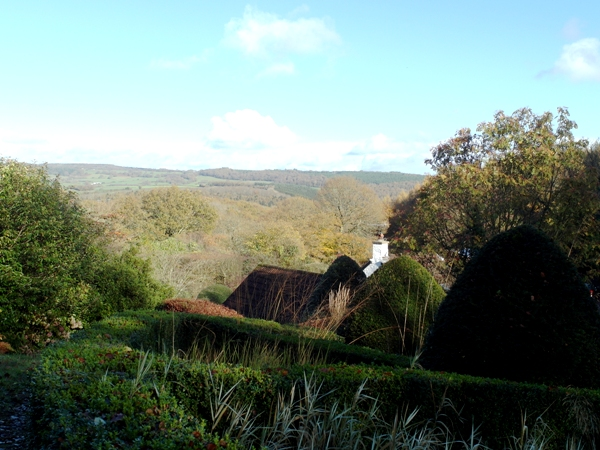 View from Veddw, autumn, copyright Anne Wareham