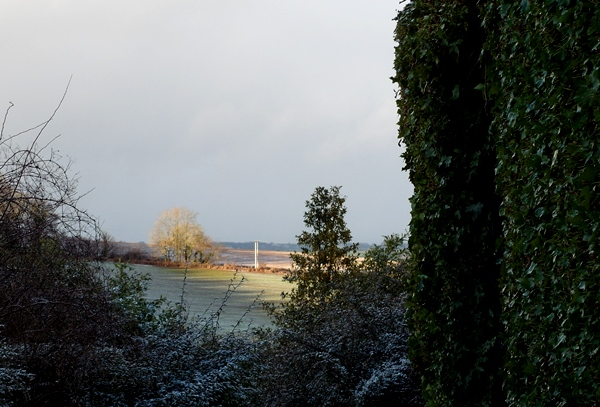 Sun on view of  Veddw, Copyright Anne Wareham