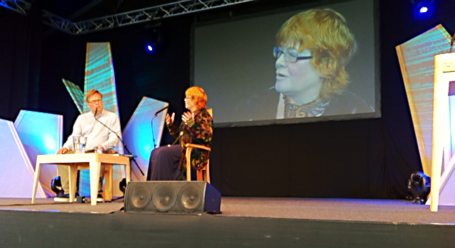 Post image for Anne at Hay Festival with Tim Richardson