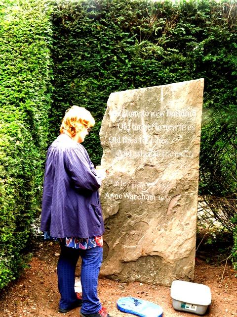 Anne at work, copyright Charles Hawes, Veddw,IMG_6458